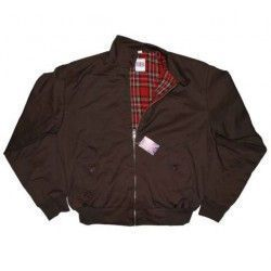 Chaqueta harrington marron-chocolate