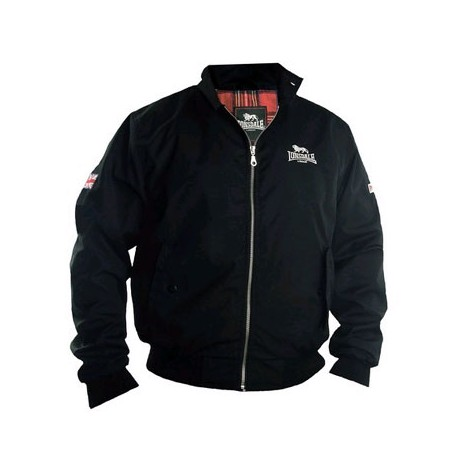 Chaqueta harrington Lonsdale negra acton