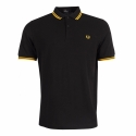 Polo Fred Perry negro a