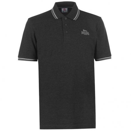 Polo Lonsdale Tipped negro