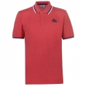 Polo Lonsdale Tipped rojo