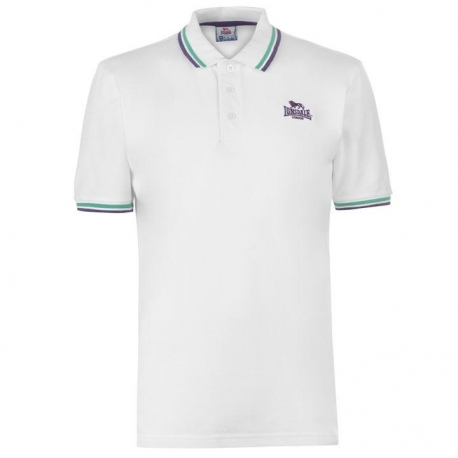 Polo Lonsdale Tipped blanco v/m