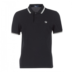 POLO FRED PERRY NEGRO blanco