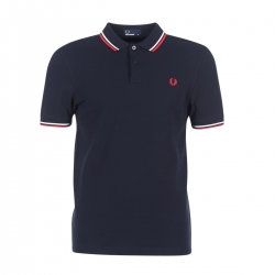 POLO FRED PERRY R.ROJO/BLANCO