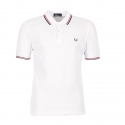 Polo Fred Perry blanco rn