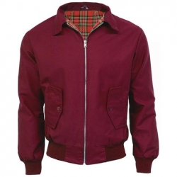 Chaqueta harrington granate-burdeos