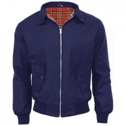 Chaqueta harrington azul marino