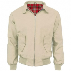 BEIGE HARRINGTON JACKET