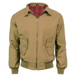 Chaqueta harrington camel
