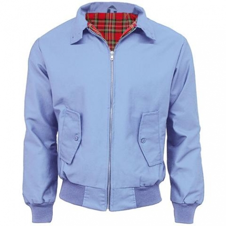 Chaqueta harrington azul cielo